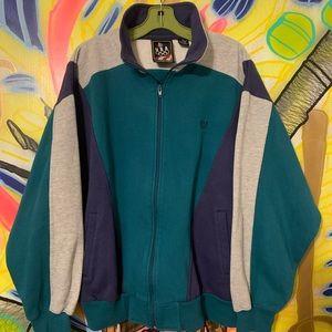 Vintage USA Olympic Color-Block Track Jacket Sz XL